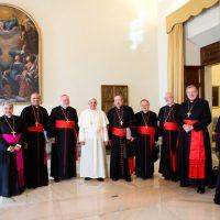 El Papa Francisco con el C9