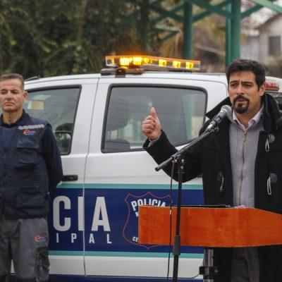 Presentación de la policía municipal en Cerro Navia