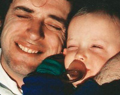 Benito Cerati y su padre, Gustavo Cerati