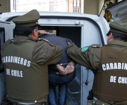 Detención por parte de Carabineros