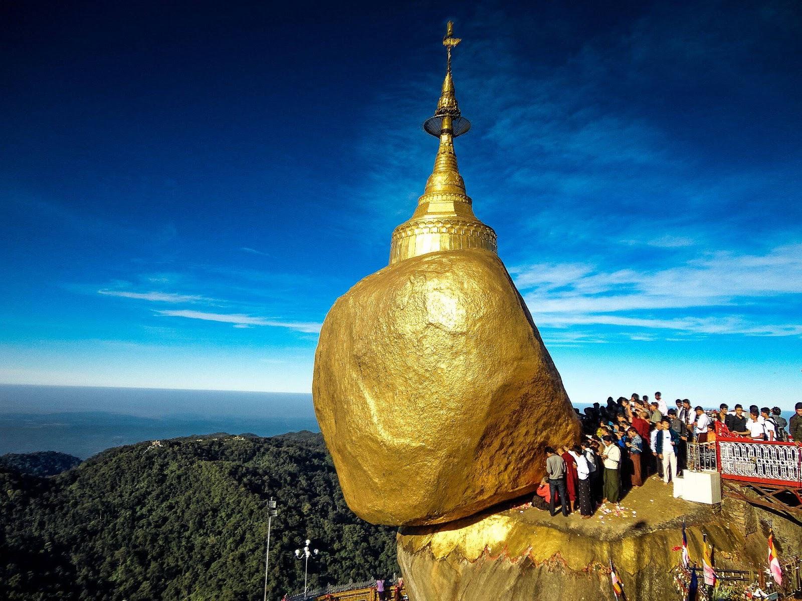 La roca dorada: Piedra sagrada con misterio divino