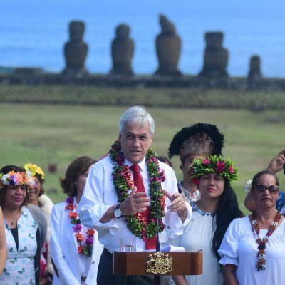 Piñera en Isla de Pascua