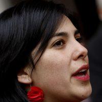 05 DE AGOSTO DE 2018/SANTIAGO En el Aula Magna de la Universidad de Santiago, se realiza la ultima jornada de la Conferencia Nacional del Partido Comunista. En la imagen, Karol Cariola. FOTO: LEONARDO RUBILAR CHANDIA/AGENCIAUNO