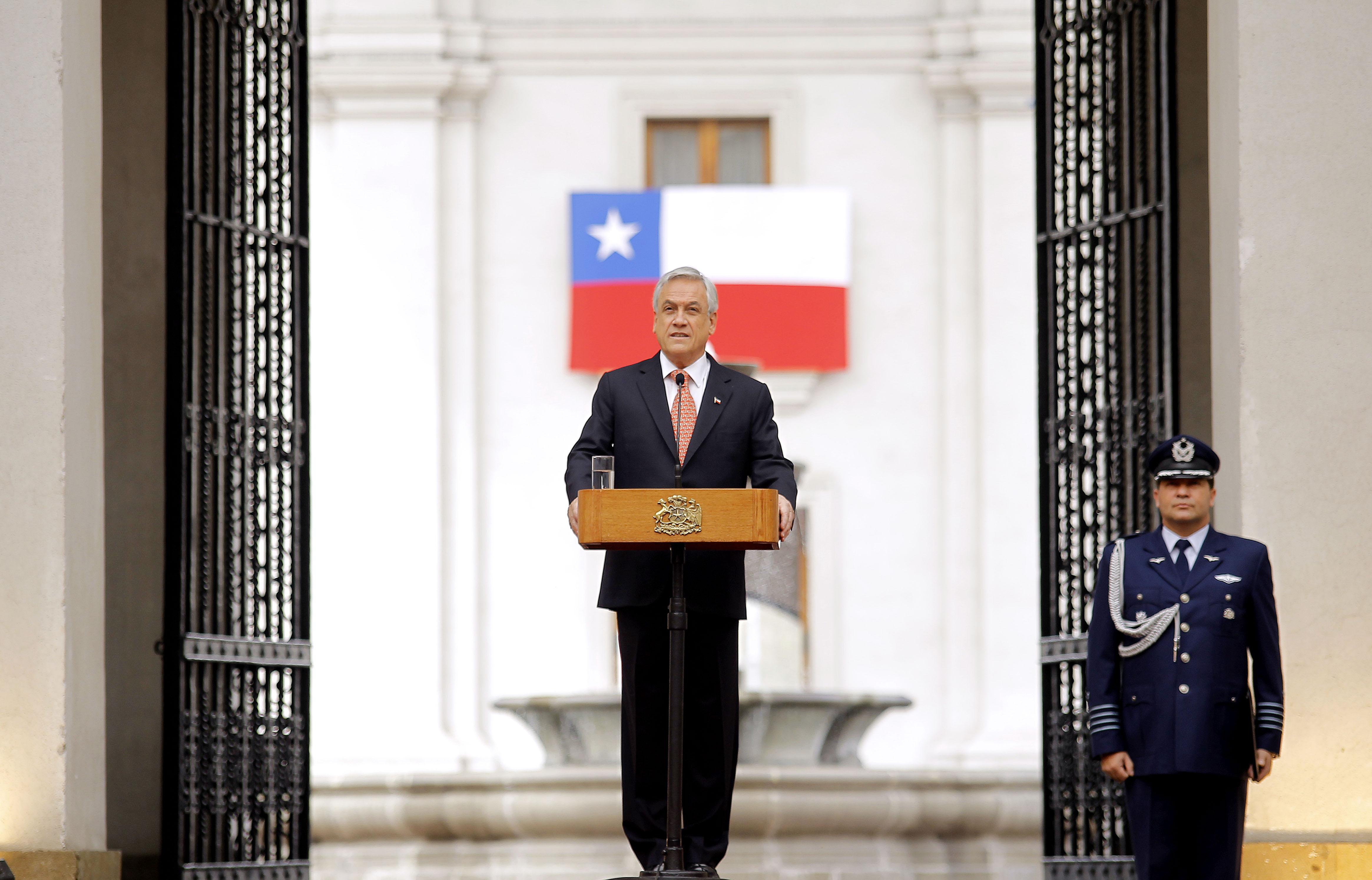 09 de Septiembre de 2013/SANTIAGO_. El Presidente de la República, Sebastián Piñera, emite su discurso durante el acto conmemorativo del Golpe Militar del 11 de septiembre de 1973 en el Palacio de La Moneda_. FOTO: PEDRO CERDA/AGENCIAUNO_.