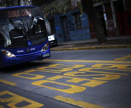 03 de Julio del 2018/SANTIAGO Hoy martes comenz— el control de las 459 c‡maras instaladas en 80 kil—metros de pistas Solo Bus y v'as exclusivas para medir el cumplimiento de la prohibici—n de circular por los corredores del Transantiago, de parte veh'culos que no sean del servicio, como tambiŽn de la restricci—n vehicular. FOTO: CRISTOBAL ESCOBAR/ AGENCIAUNO