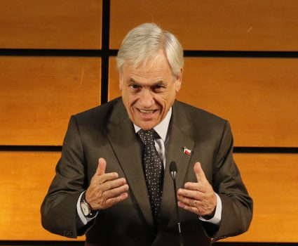 31 de Agosto del 2018/SANTIAGO El Presidente de la República, asiste al cambio de mando de la Federación de Medios de Comunicación de Chile. En la imagen Sebastian Piñera, realiza su intervención. FOTO: RODRIGO SAENZ/AGENCIAUNO