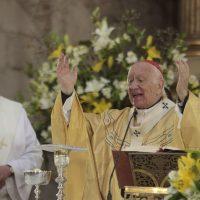 23 DE SEPTIEMBRE DE 2018/SANTIAGO Con la presencia del cardenal Ricardo Ezzati, se realizó una misa conmemorativa por los 400 años de la Iglesia de San Francisco. FOTO: LEONARDO RUBILAR CHANDIA/AGENCIAUNO