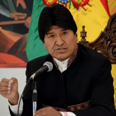 2 de Octubre del 2018/ LA PAZ El presidente Evo Morales, realiza conferencia de prensa en la casa Grande del Pueblo, en donde se refirió al fallo de La Halla y las contradicciones que el encuentra por parte de la CIJ. FOTO: AGENCIAUNO.