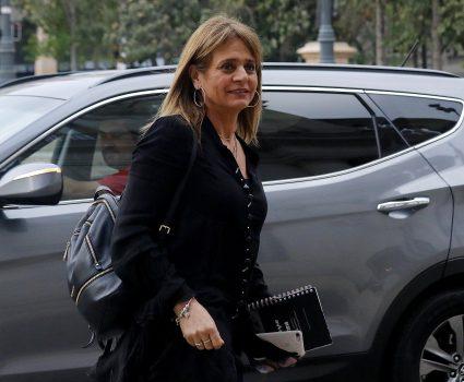 28 DE OCTUBRE DE 2018/SANTIAGO Jacqueline van Rysselberghe, llega hasta el Palacio de La Moneda para participar de un comité político con el Presidente Sebastián Piñera. FOTO: LEONARDO RUBILAR CHANDIA/AGENCIAUNO