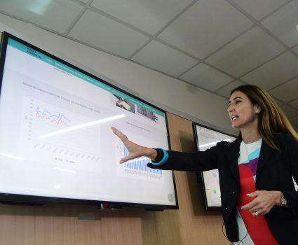 21 de noviembre de 2018/SANTIAGO La ministra del Medio Ambiente, Carolina Schmidt, presenta la primera Red de Monitoreo de Ruido Ambiental de Chile, que mide en tiempo real y de forma continua la contaminación acústica en 7 puntos estratégicos de Santiago. FOTO: SEBASTIAN BELTRAN GAETE/AGENCIAUNO