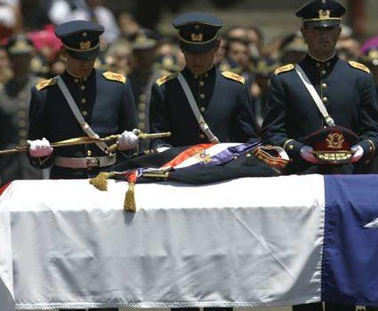 El adiós a Augusto Pinochet