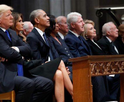Presidente y ex mandatarios de EE.UU.