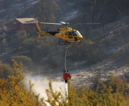03 DE ENERO DE 2019/LIMACHE Incendio destruye 50 viviendas en el sector Los Maitenes de Limache , carabineros dispuso la evacuación preventiva en la zona FOTO: SANTIAGO MORALES/AGENCIAUNO