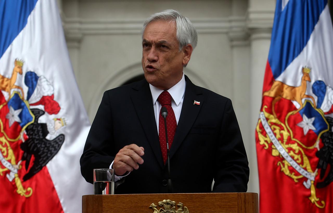 Presidente Sebastián Piñera entrega su respaldo a Andrés Chadwick