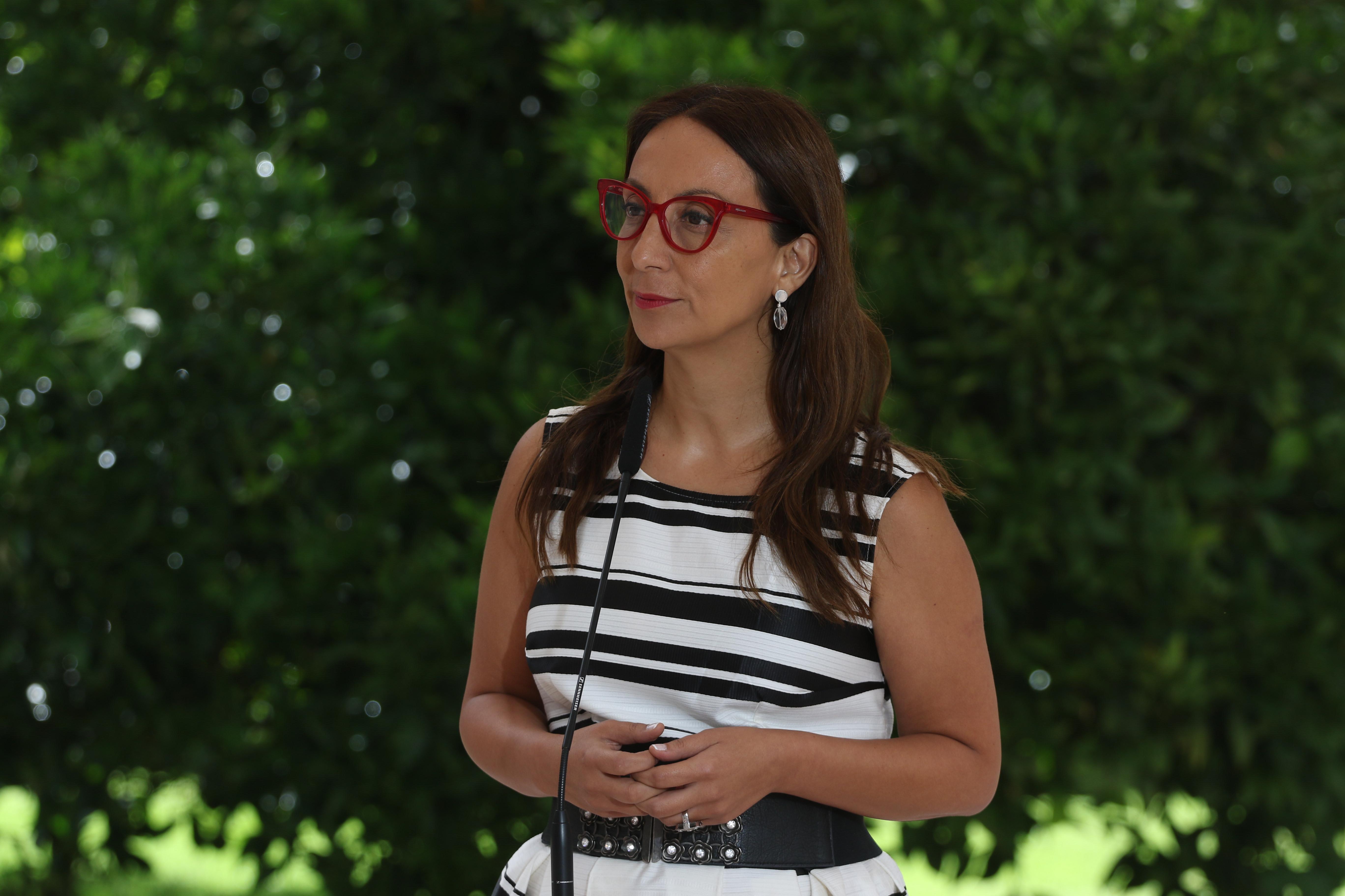 15 de enero de 2019/SANTIAGO La ministra Secretaria General de Gobierno, Cecilia Pérez, habla sobre los dichos de la diputada Marisela Santibáñez, sobre Jaime Guzmán. FOTO: SEBASTIAN BELTRAN GAETE/AGENCIAUNO