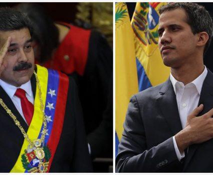 Los discurso de Maduro y Guaidó en Venezuela