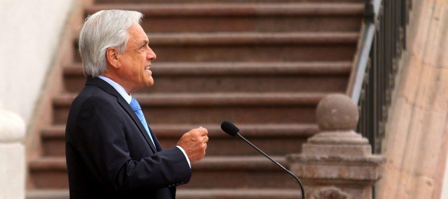 11 de FEBRERO del 2019/SANTIAGO El Presidente de la República, Sebastián Piñera, realizó una vocería en el Palacio de La Moneda, donde se refirió a las emergencias que se han vivido en diversas regiones del país, además de otros temas de la contingencia. FOTO: HANS SCOTT/AGENCIAUNO