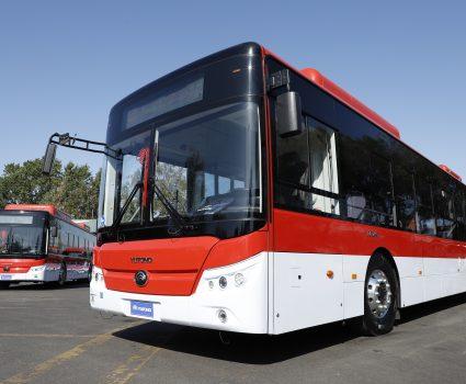 19 de enero 2019/SANTIAGO Im‡genes de los nuevos buses, adquiridos para duplicar la electroflota del pa's. Presentados por la Ministra y el subsecretario de Transportes FOTO: RUBEN ZAMORA/AGENCIA UNO