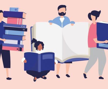 Afiche de la primera Feria Cultural del Libro