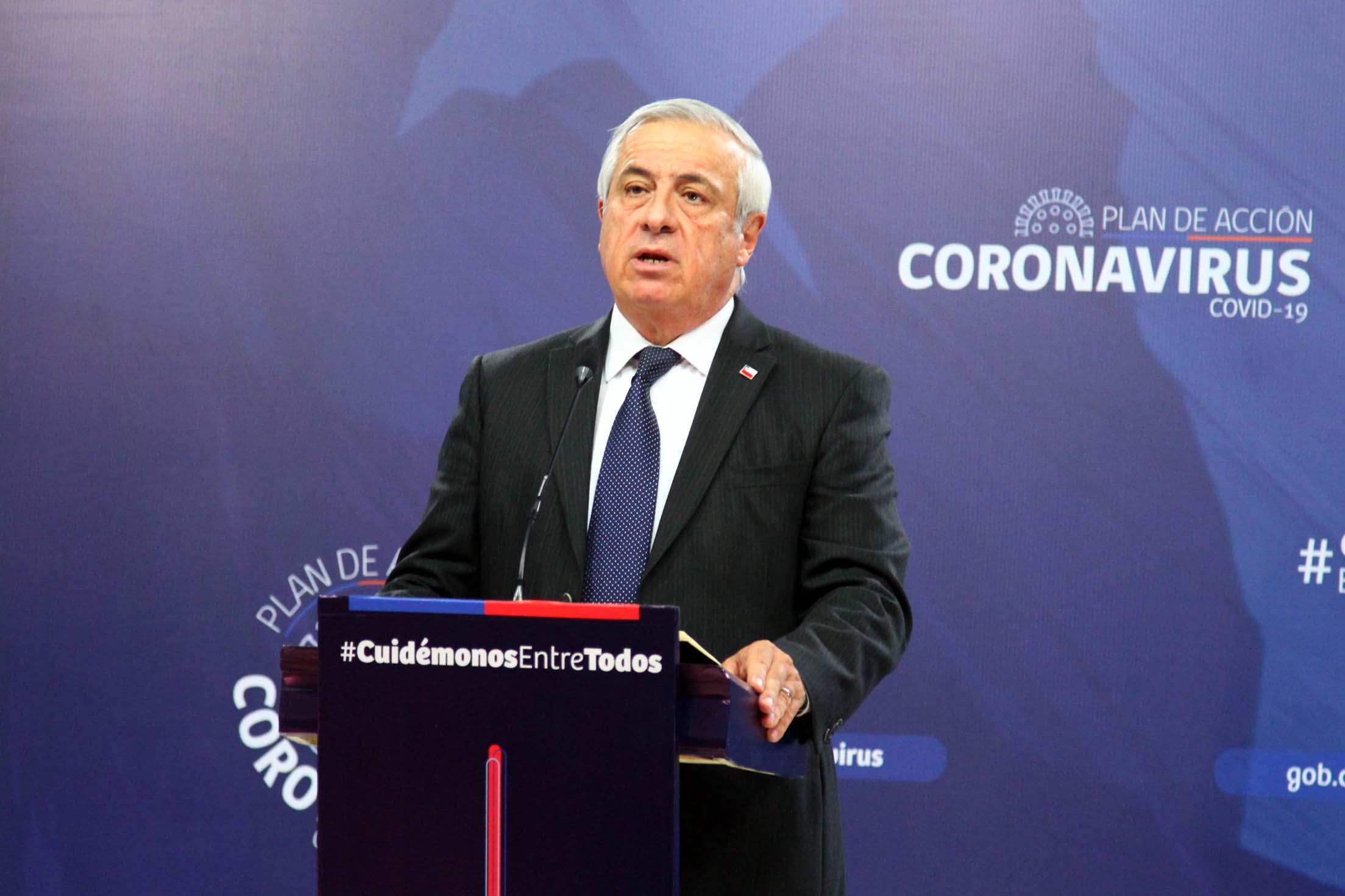 Jaime Mañalich balance de casos de coronavirus