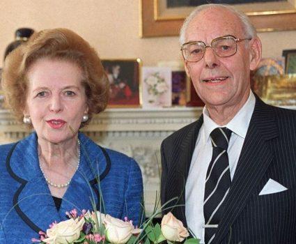 Margaret y Denis Thatcher