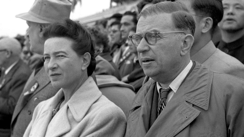 Jean Paul Sartre y Simone de Beauvoir