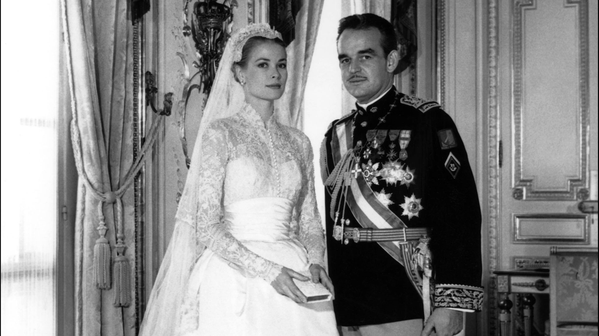 Rainiero de Mónaco y Grace Kelly