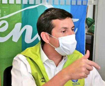 Claudio Castro, alcalde de Renca y distribución de cajas de alimentos