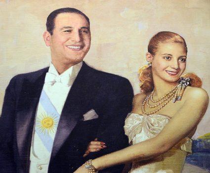 Juan Domingo y Evita Perón