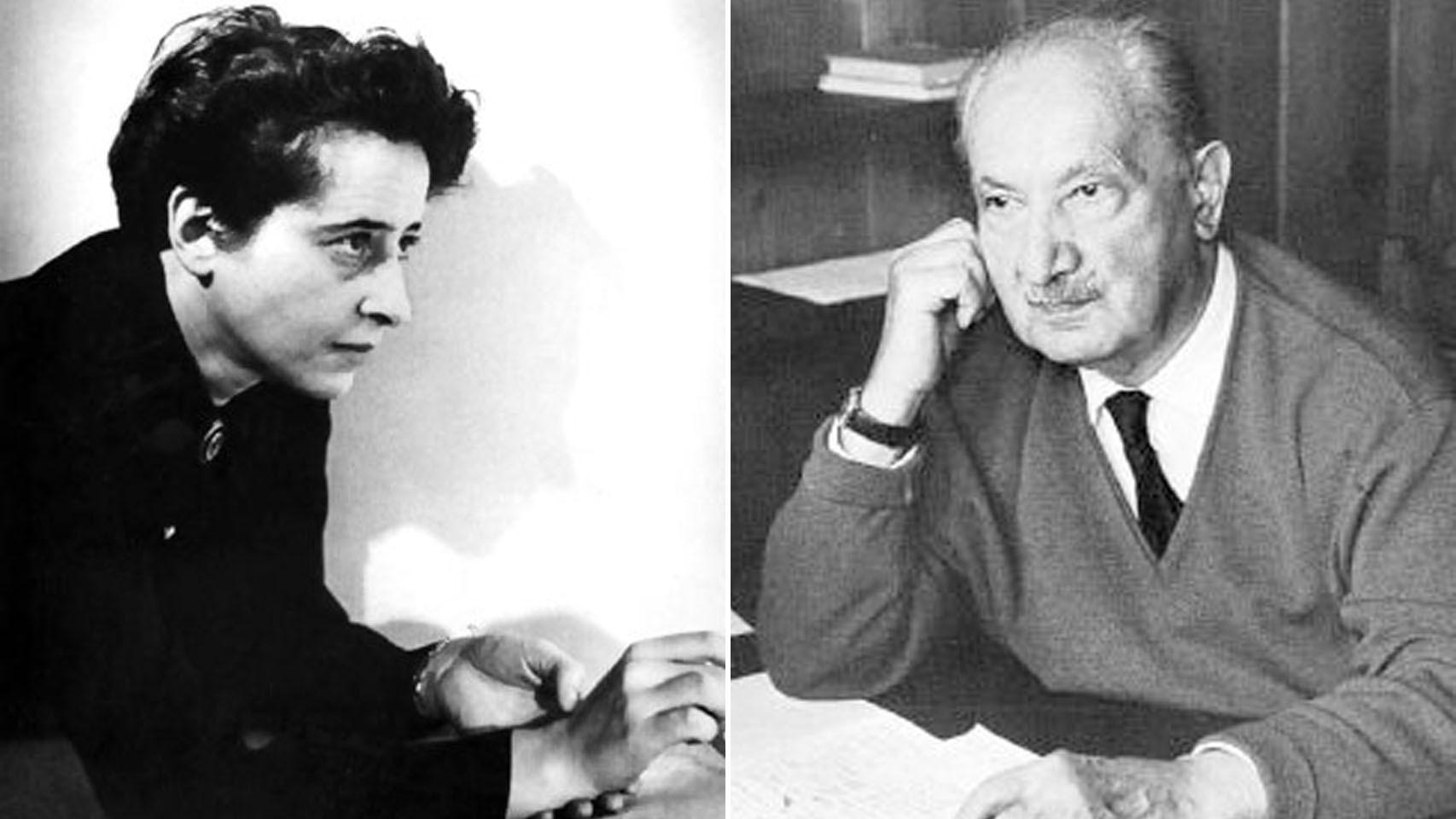 Martin Heidegger y Hannah Arendt