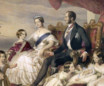 Reina Victoria y príncipe Alberto