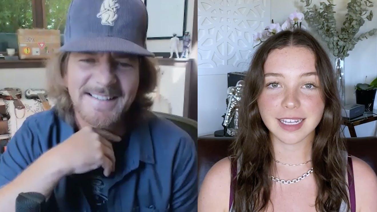 Lily Cornell y Eddie Vedder