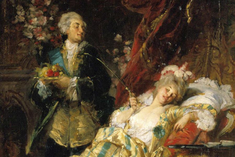 Luis XV y Madame Pompadour