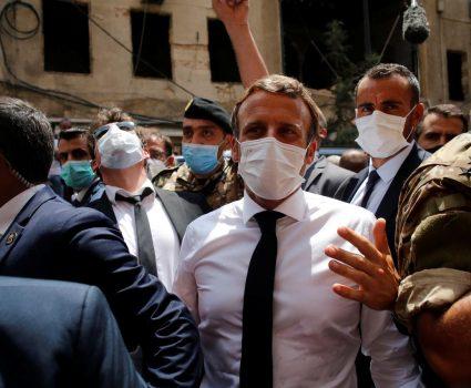 Presidente de Francia, Emmanuel Macron, visita Beirut