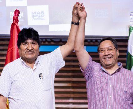 evo morales y luis arce y elecciones en Bolivia