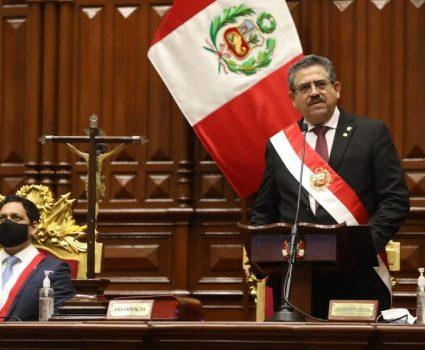 Manuel Merino, presidente de Perú