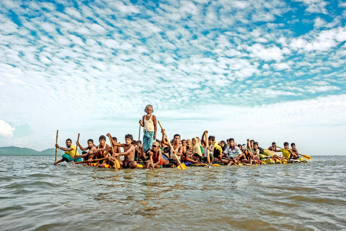 Tomás Munita y foto sobre Rohingyas
