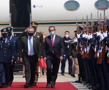 Presidente de Argentina, Alberto Fernández, en Chile