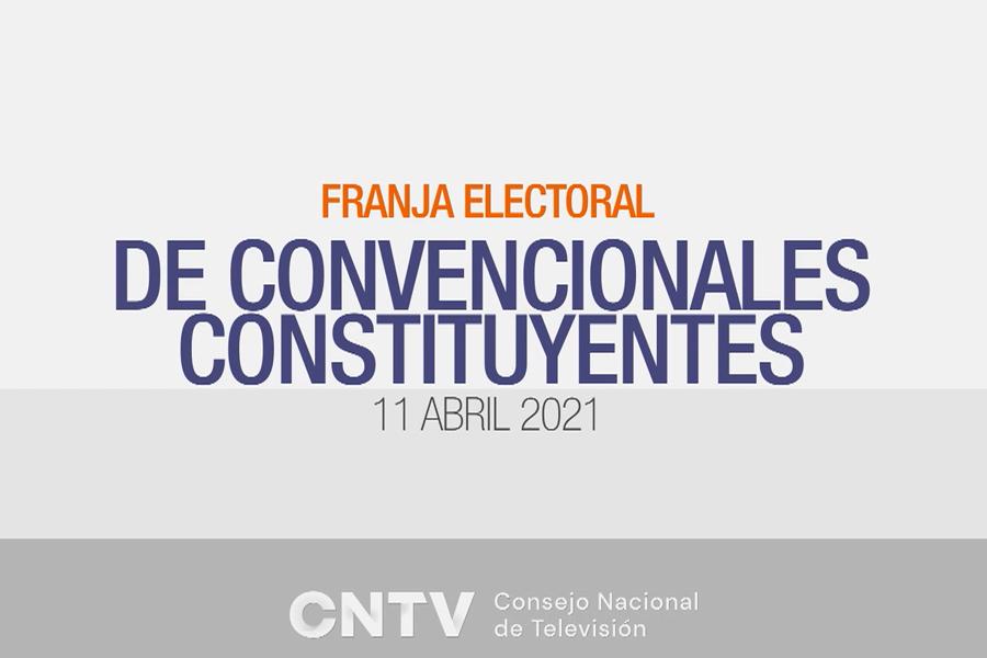 franja electoral candidatos a constituyente